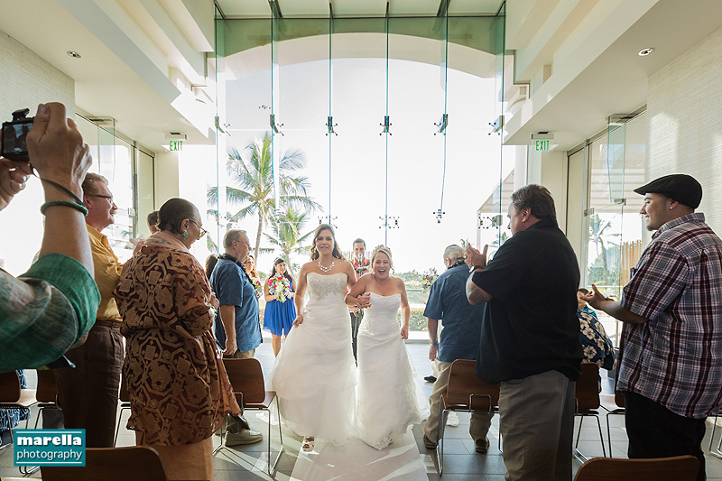 Oahu gay wedding photographer - Kapolei Golf Club - Karen & Daria